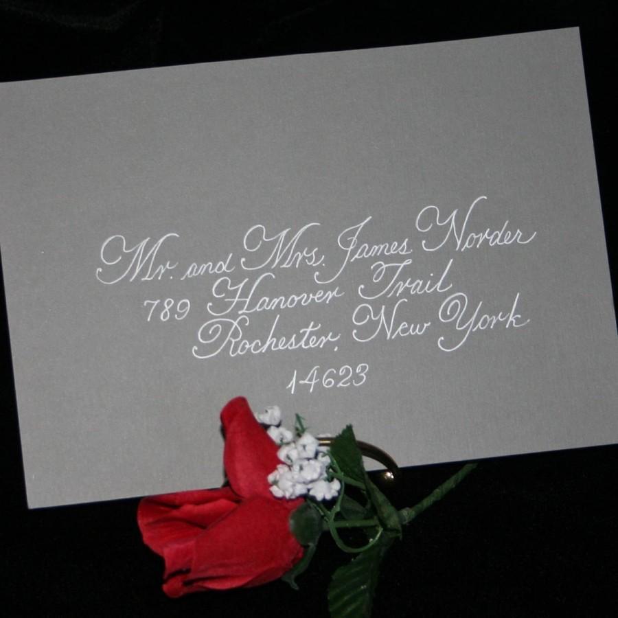 Свадьба - Calligraphy Envelope Addressing, DISCOUNT CALLIGRAPHY SPECIAL, Edwardian Script