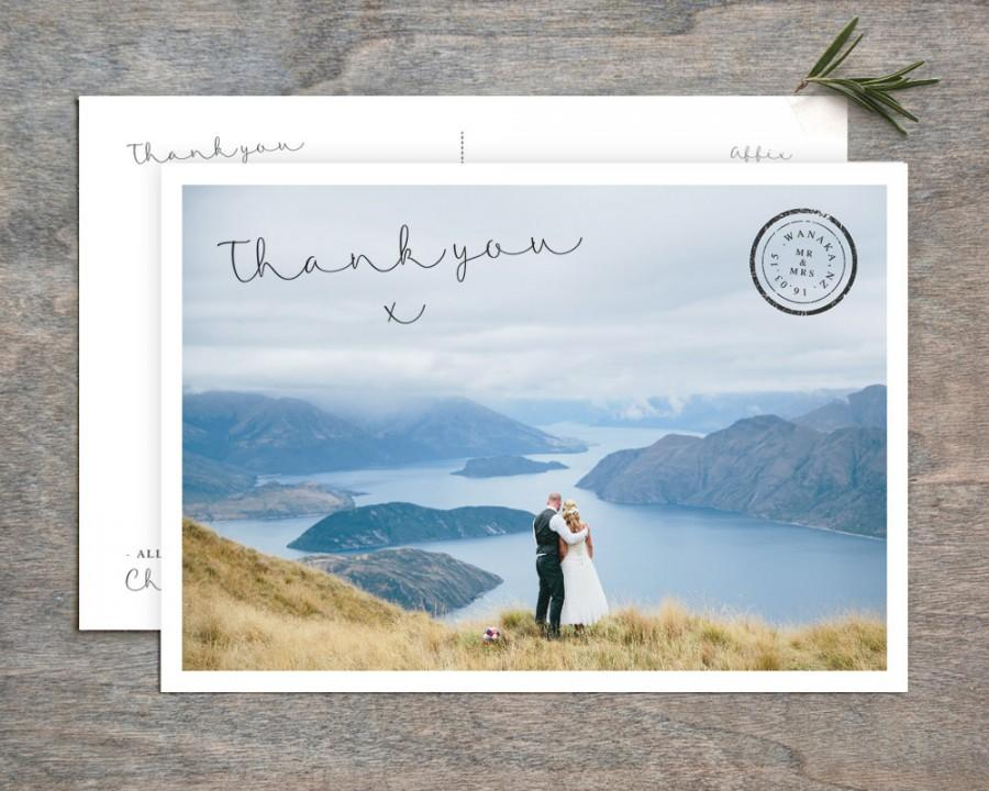 Mariage - Personalised Wedding Thank You Postcard