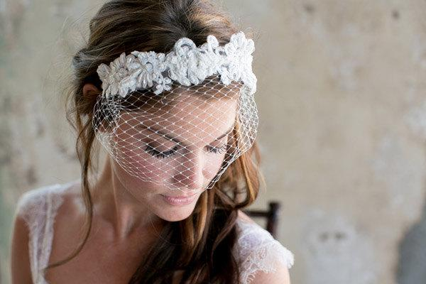 Marvelous Birdcage Headband Short French Net Birdcage Veil On Lace Russian Hairstyles For Women Draintrainus