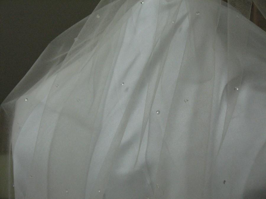 Mariage - Teardrop accent bridal veil