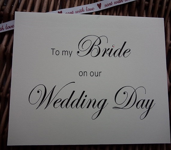 Mariage - To my bride on our wedding day, To my bride Card, wedding card, wedding cards, wedding card, groom to bride card, card for bride, my bride
