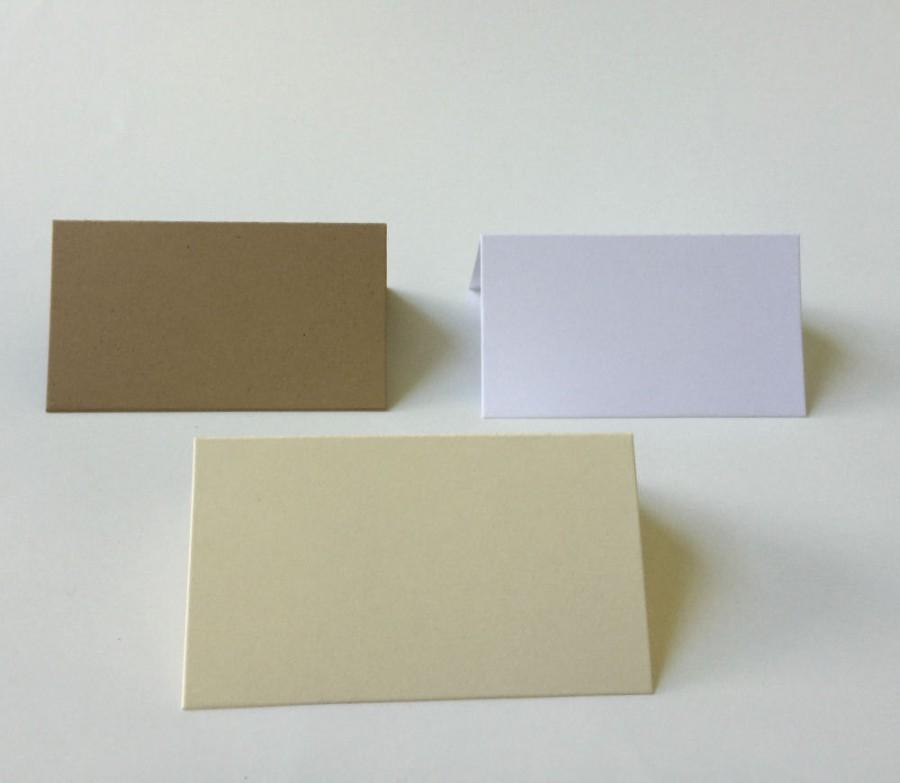 25 blank tent escort cards kraft cards wedding escort cards folded place cards reception table cards stand up place cards e001 - Folded Place Cards
