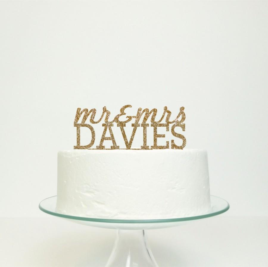 Mariage - Mr & Mrs...' Personalised Cake Topper - The Classic Design