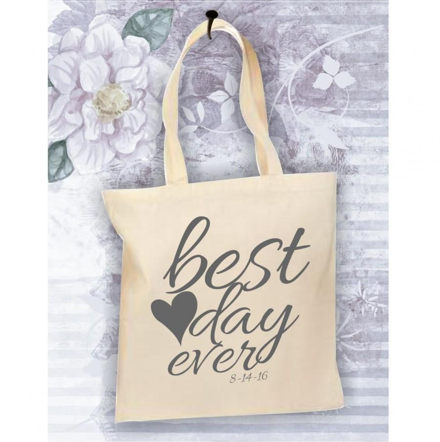 bride tote bag best day ever bag personalized tote for the bride