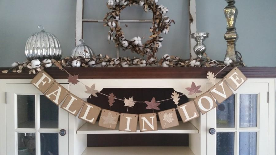Mariage - Fall In Love Banner, Fall Wedding Decorations, Fall In Love Garland, Fall In Love Sign, , Fall Decor, Fall Banners, Fall Bridal Shower Decor
