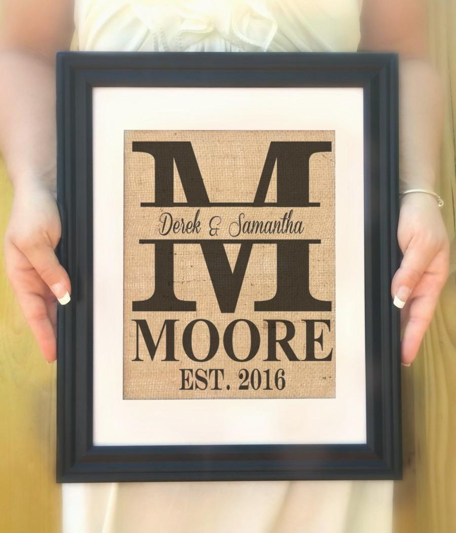 Wedding Gifts For The Couple : Wedding Gifts For Couple personalized last name gift wedding ...