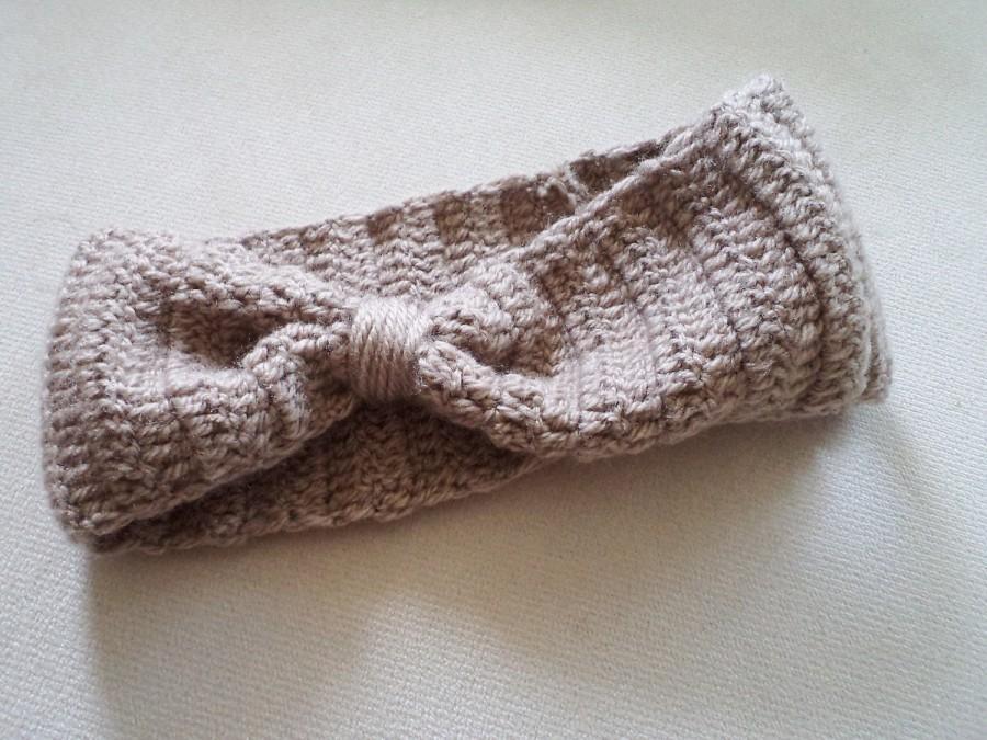Wedding - Holiday Gift, Gift İdeas, Headband, Ear Warmers, Knit headband, Crochet Headband, Winter Hairband, Cute Turban Headband, Bow Headband