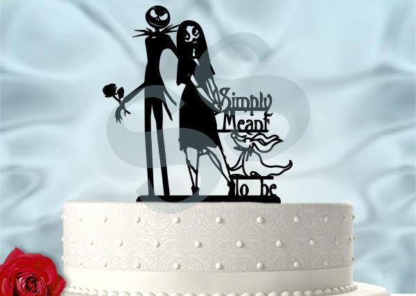 Свадьба - Jack and Sally Simply Meant to Be Wedding Cake Topper