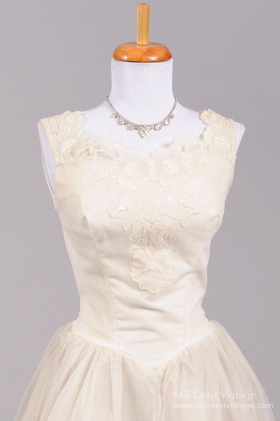 Dress 1950 rose tea vintage wedding dress 2581633 for Vintage rose wedding dress