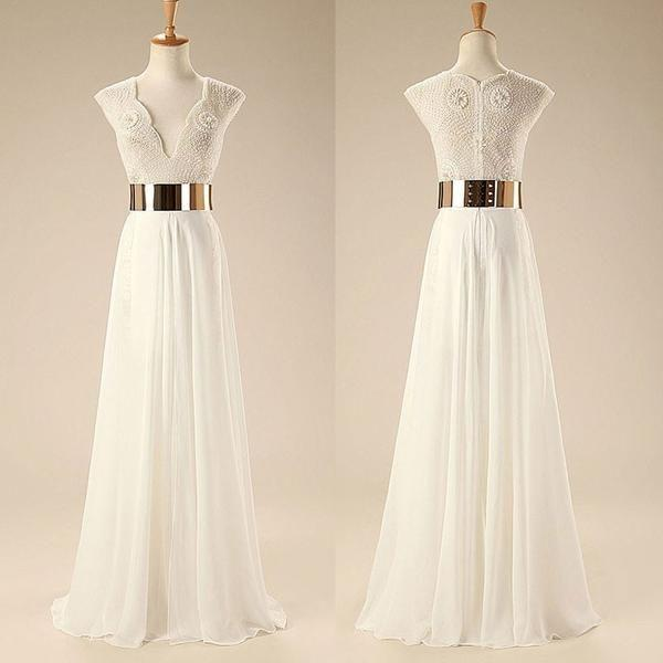 Wedding - See-trough Lace Appliqued Bodice Off The Shoulder Beach Wedding Dress,apd1782