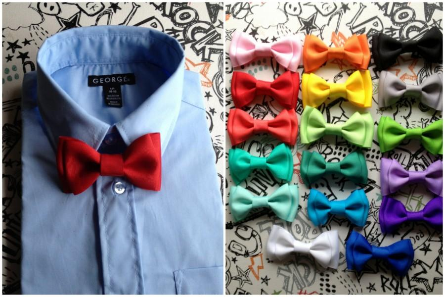 Red Bow Tie Baby Boys Bow Ties Groomsmen Bow Tie Wedding Ring ...