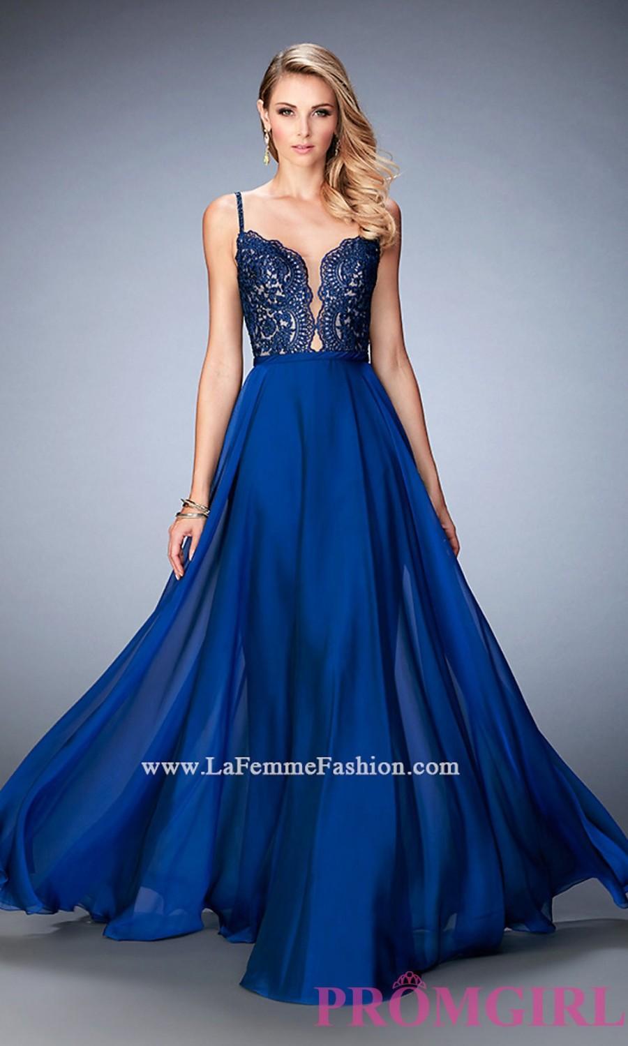 Long Sweetheart La Femme Prom Dress With An Open Back - Discount ...