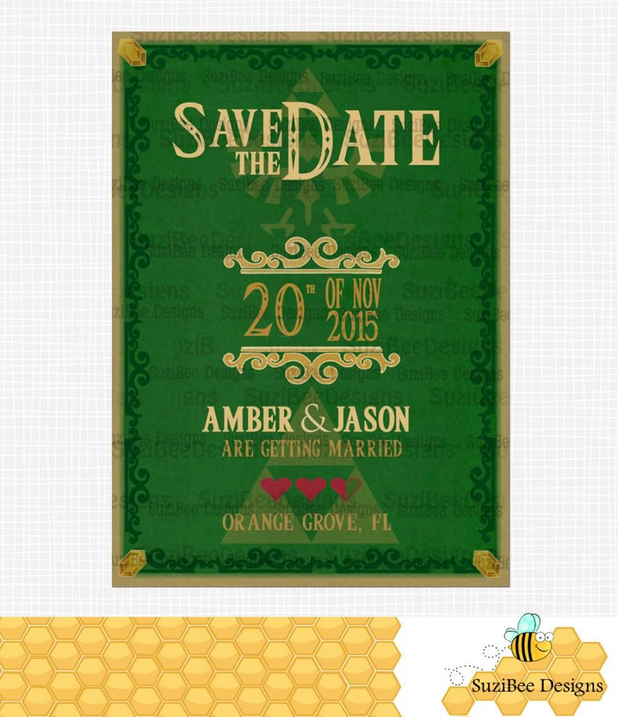 Legend of zelda save the date wedding invitation triforce template legend of zelda save the date wedding invitation triforce template we add personalization stopboris Gallery