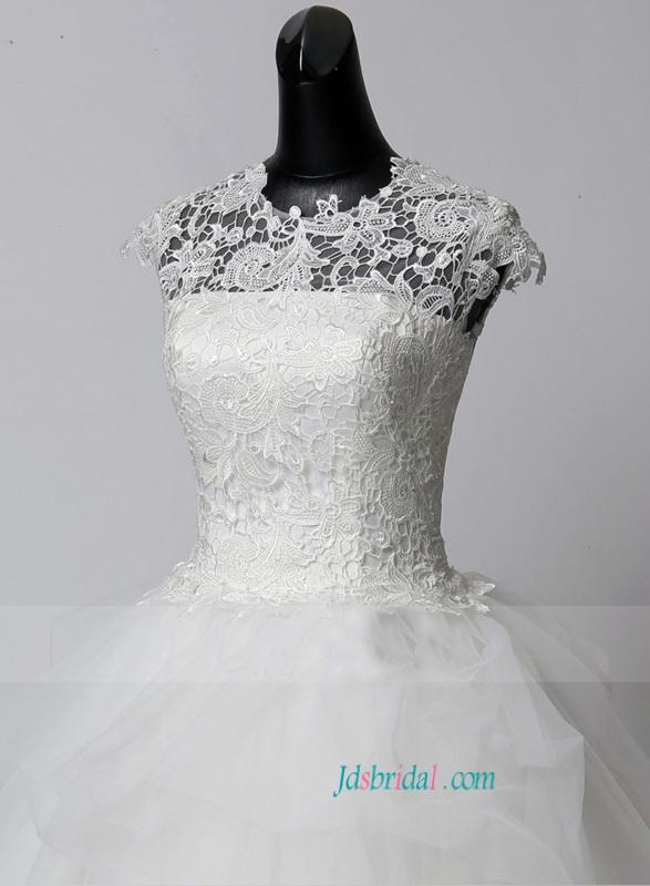 Wedding - Cheap Floor length lace ball gown wedding dress