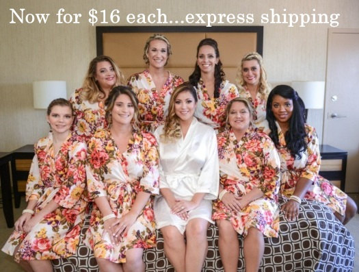 cee679c81f Bridesmaids robes, Set of 9, getting ready robes, wedding bridesmaids  gifts, handmade, bright colored, floral print, bridal shower.