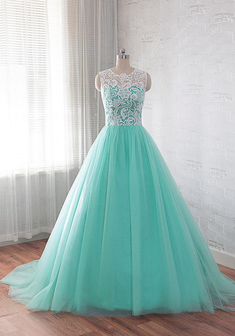 Hochzeit - Tulle prom dress, lace ball gowns, quinceanera dress, homecoming dress