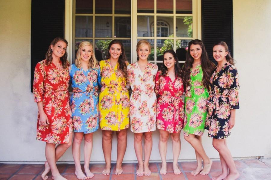buy real convenience goods 2019 best Mix Matched Floral Posy Bridesmaids Robes #2581921 - Weddbook