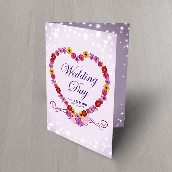 heart flowers foldable wedding invitations 2581949 weddbook