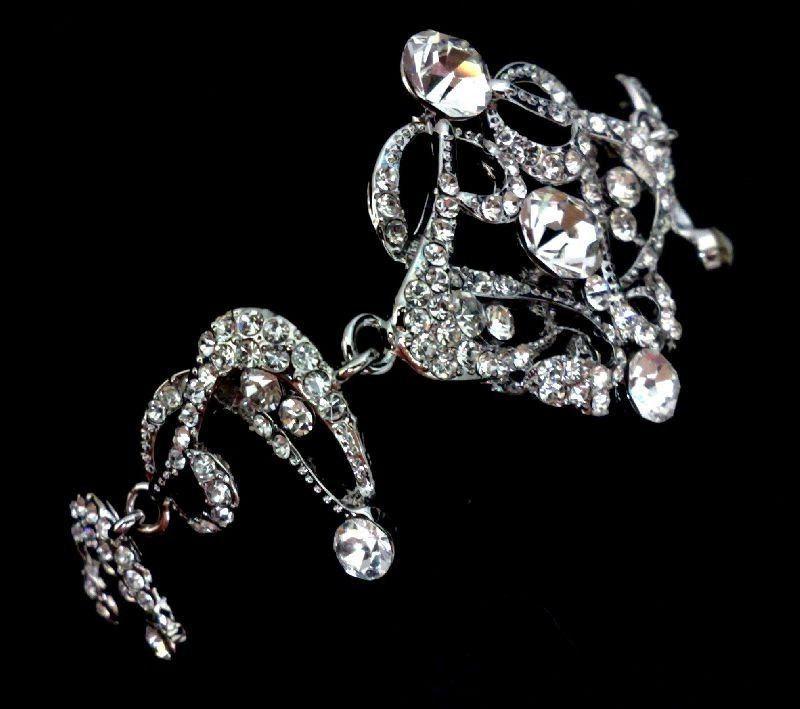 زفاف - Statement Bridal Bracelet, Gatsby Wedding Bracelet, Art Deco Bridal Jewelry, Swarovski Crystal Bracelet, Victorian Wedding Jewelry, CARMEN