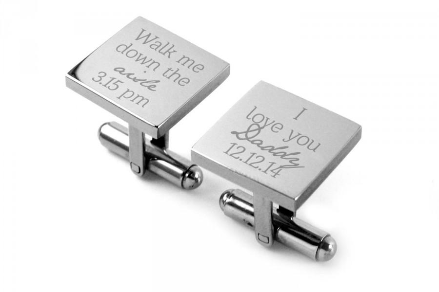 Wedding - Father of the Bride Cuff Links Stainless Steel Gifts for Dad