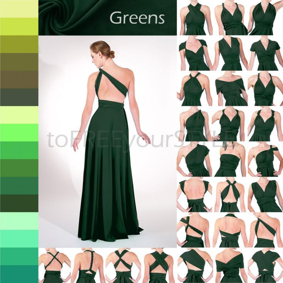 Long Infinity Dress In GREENS, FULL Free-Style Dress, Maxi ...