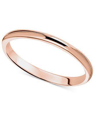 زفاف - Rose Gold Wedding Band