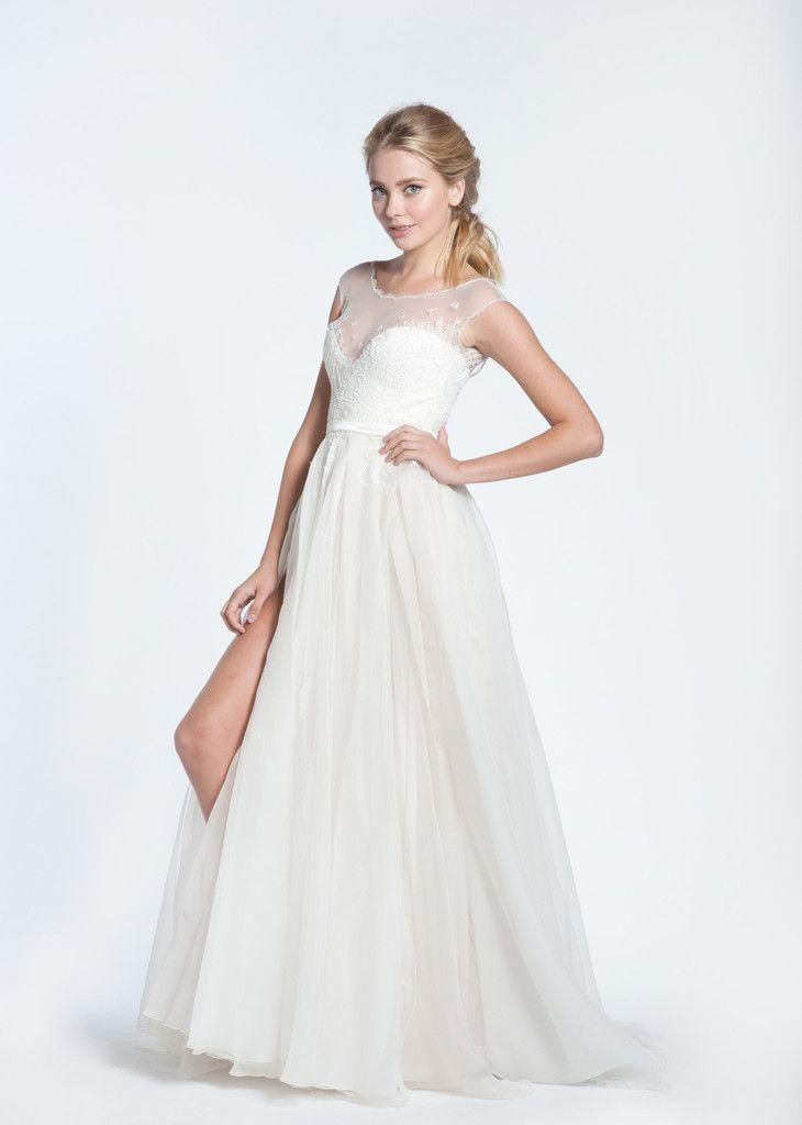 Mariage - Paolo Sebastian Swan Lake Wedding Dress With White Bustier