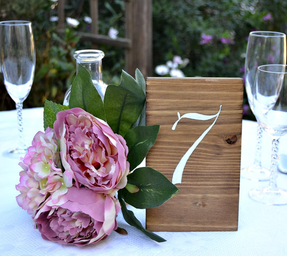Hochzeit - Wedding Table Numbers. Set of 5. Rustic Wedding Table Numbers. Wooden sign Table. Wood table Numbers.Country Wedding Decor.Centerpiece Decor