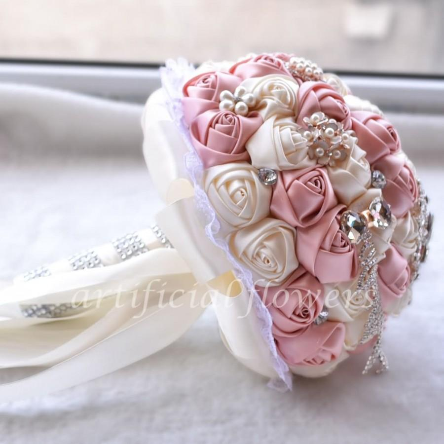 Artificial Wedding Flowers Bridal Bouquet Silk Bridal Bouquets Pink
