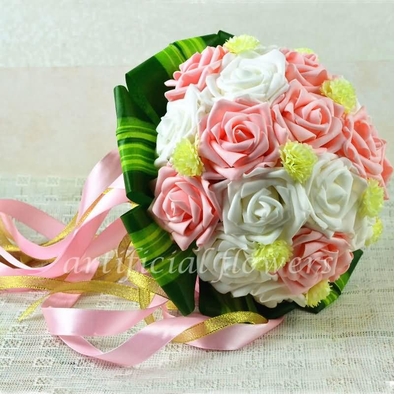 Artificial bride and bridesmaids bouquets simple wedding flowers artificial bride and bridesmaids bouquets simple wedding flowers bouquets ideas pink white red tall 30cm 13050546 3886 cloneflower mightylinksfo