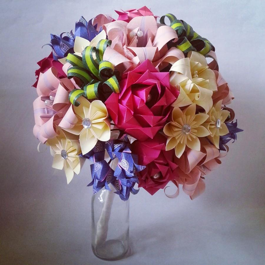 Paper flower origami bridal bouquet statement piece roses lilies paper flower origami bridal bouquet statement piece roses lilies kusudam custom made mightylinksfo Choice Image