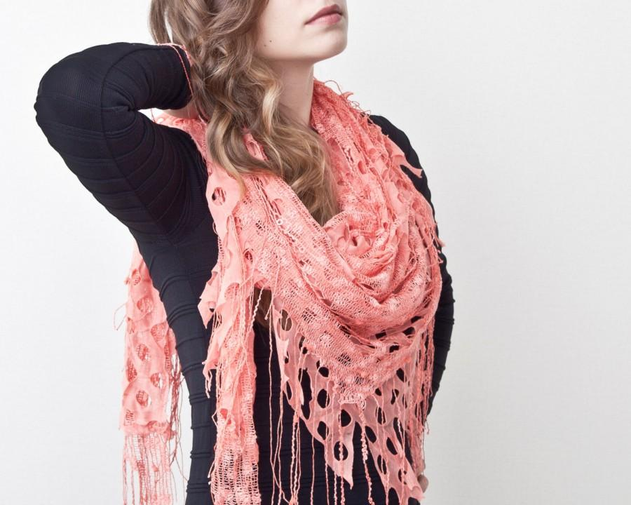 coral lace shawl fashion accessories gift ideas cute summer scarf valentines day gift many color variations
