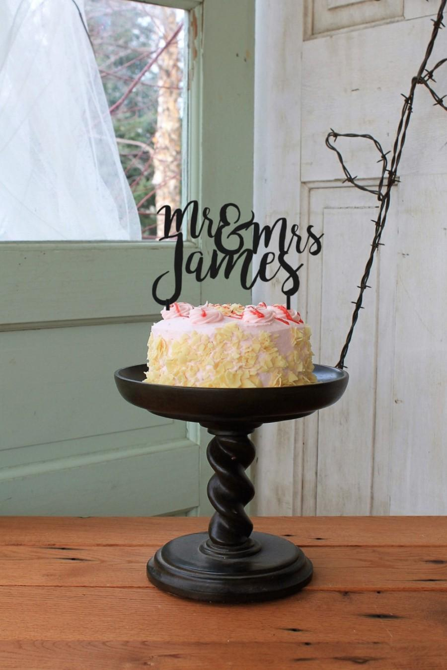 Свадьба - Mr & Mrs Personalized Wedding Cake Topper,  Wedding Cake Topper, Wedding Cake Decor