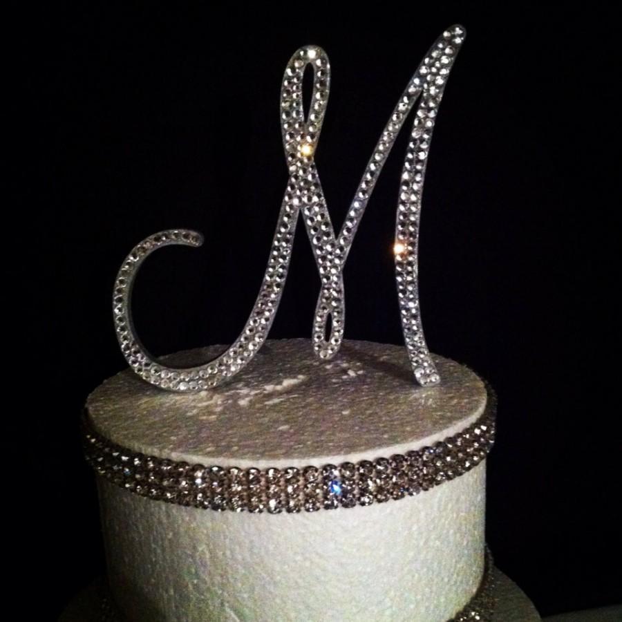 Свадьба - Bling Monogram Cake Topper