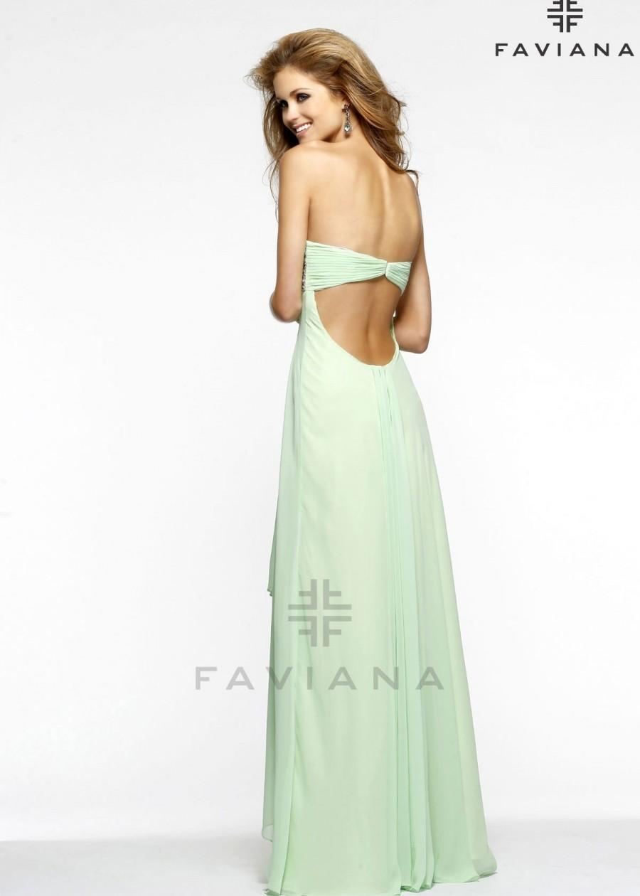 Wedding - Faviana 7335 Chiffon Evening Gown Website Special - 2016 Spring Trends Dresses