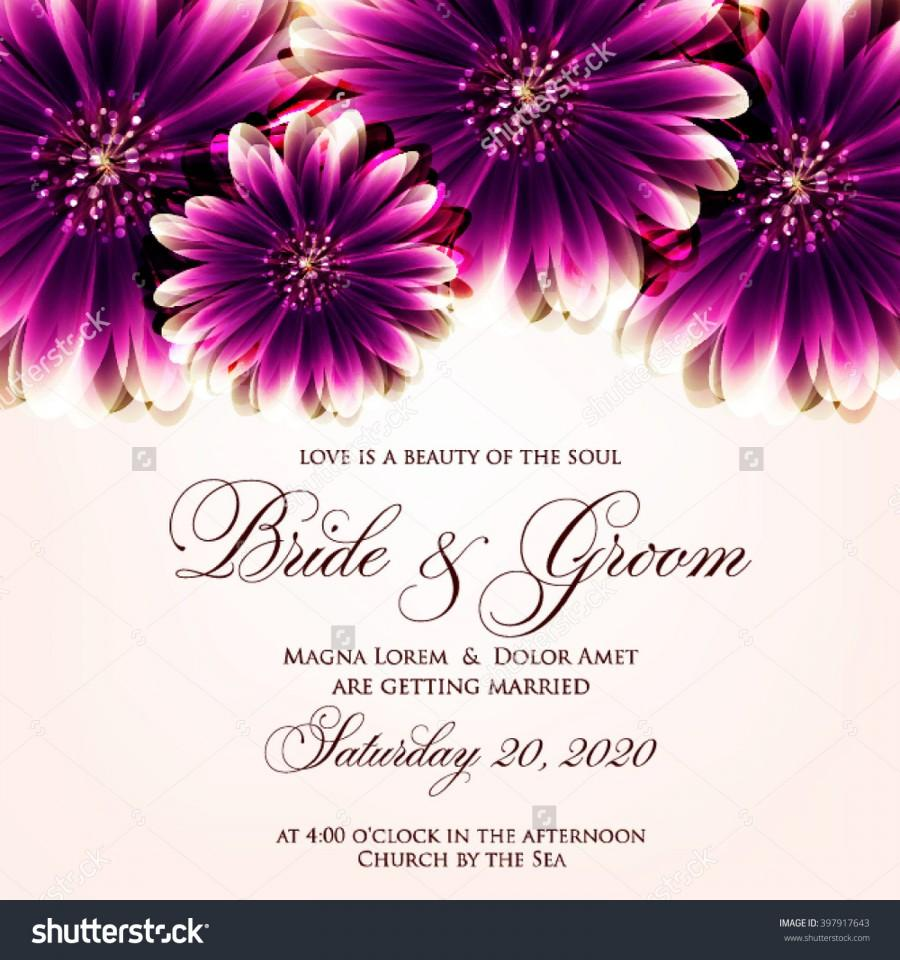 Свадьба - Wedding card or invitation with abstract floral background. Greeting postcard in grunge or retro vector Elegance pattern with flowers roses floral illustration vintage style Valentine anniversary