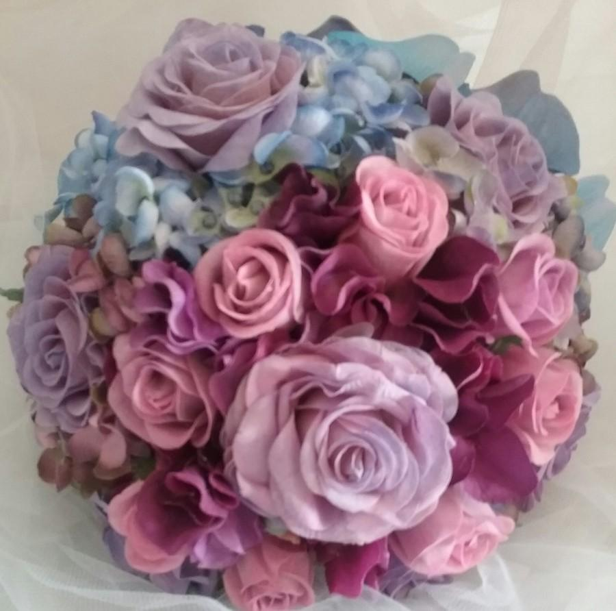 Mariage - Sorbet, pink bouquet,  pink  and purple  bouquet ,rose bouquet,  hydrangeas, fall bouquet, winter bouquet,spring bouquet,late summer bouquet