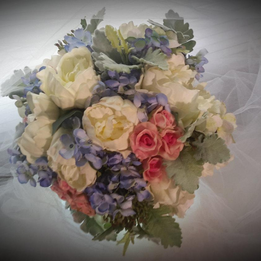Mixed Flower Bouquet, Summer Flower Wedding Bouquet, Sping Flowers ...