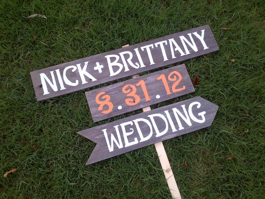 Names date wedding sign reception signs parking signs restrooms names date wedding sign reception signs parking signs restrooms sign cocktails sign outdoor wedding decorations fall orange wedding junglespirit Gallery