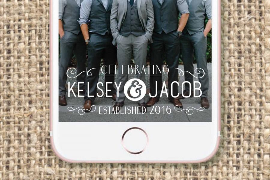 Свадьба - Wedding Snapchat Geofilter // Rustic Wedding // On Demand Filter - Personalized - Customized Names