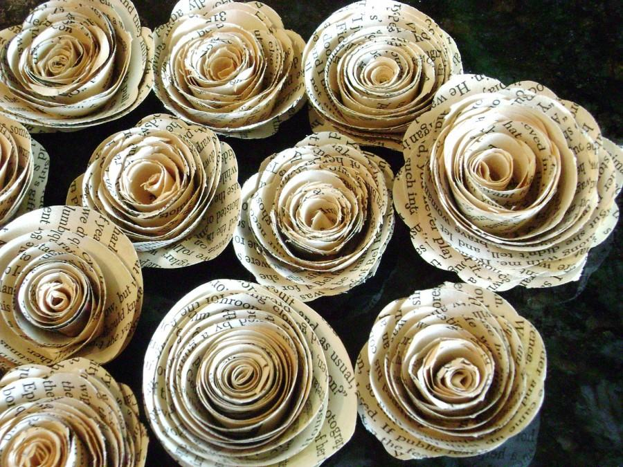 2 225 vintage book page sheet music maps recycled paper flowers 2 225 vintage book page sheet music maps recycled paper flowers spiral roses no stems for scrapbooks cardsdecorations mightylinksfo Choice Image