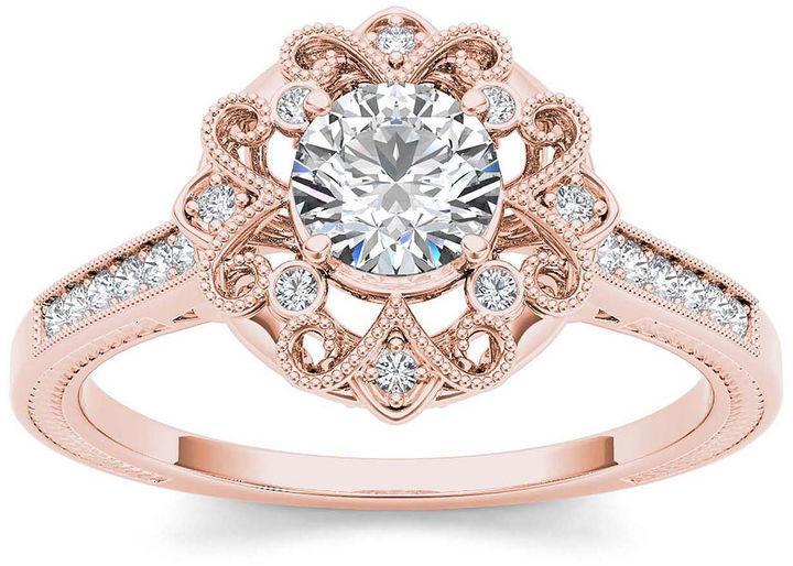 Свадьба - MODERN BRIDE 1/2 CT. T.W. Diamond 14K Rose Gold Engagement Ring