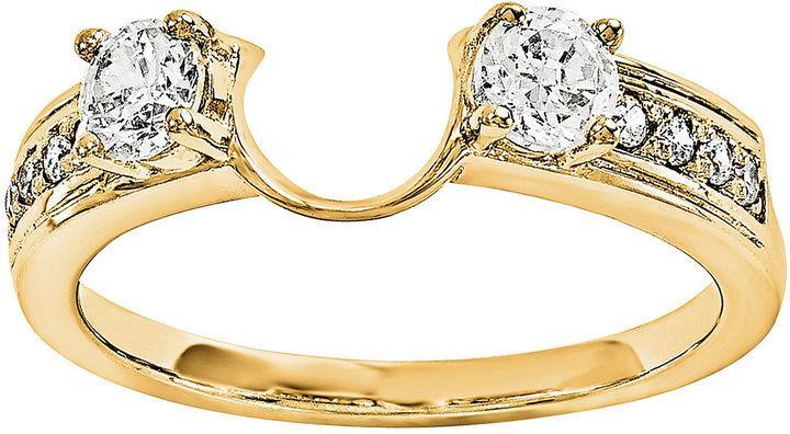 MODERN BRIDE 14K Yellow Gold 5 8 CT T W Diamond Ring Enhancer