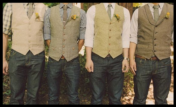 Свадьба - Groomsmen Vests Groom and Grooms men Wedding Outfits Groom Wedding Day Attire Mismatched Grooms Outfits.