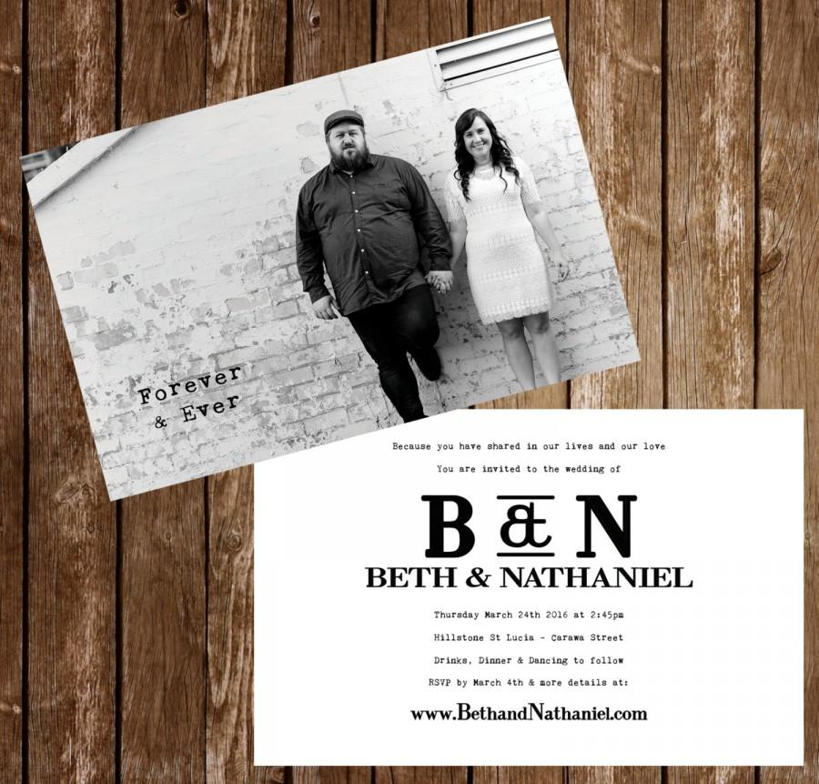 Wedding invitation postcards black and white photo 4x6 or 5x7 wedding invitation postcards black and white photo 4x6 or 5x7 stopboris Images
