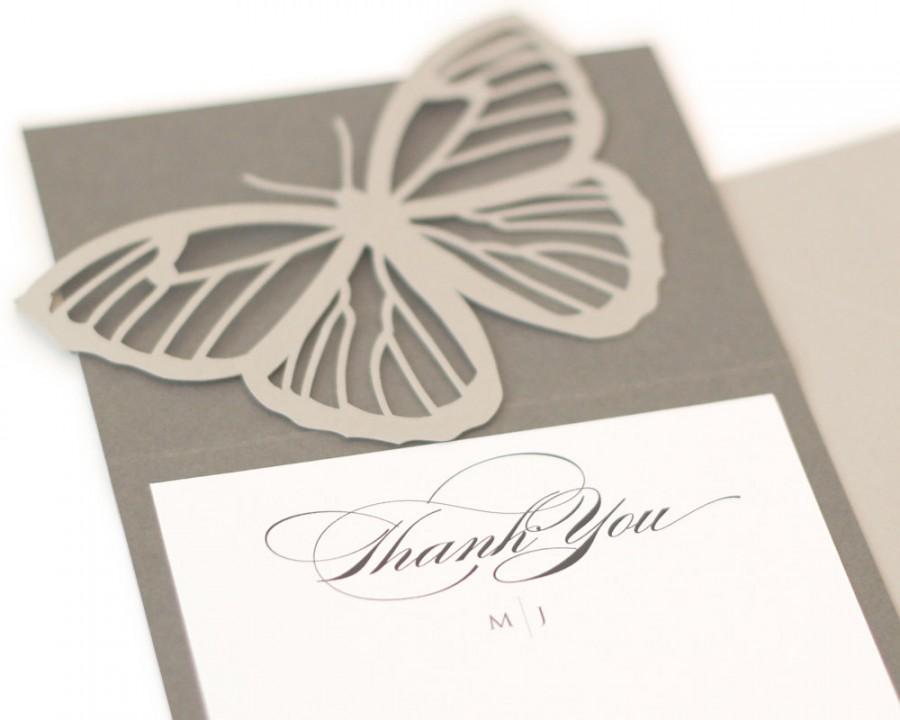 butterfly thank you notes set of 25 wedding shower marriage