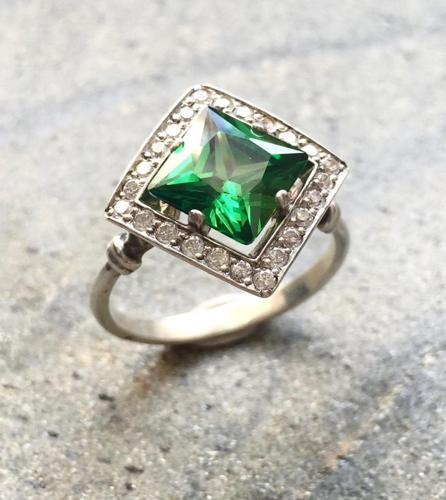 Emerald Ring Engagement