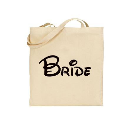 Свадьба - Disney Wedding Brides tote, Bridal tote bag, Disney inspired bride bag, Disney Cruise Bride tote, Disneyland Wedding, Disneyworld Wedding