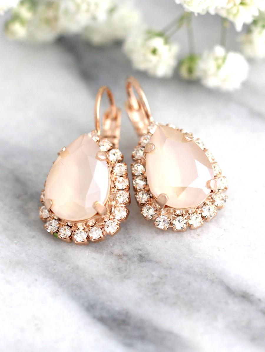 زفاف - Ivory Cream Earrings, Nude Ivory Bridal Earrings, Bridal Earrings,Bridesmaids Earrings, Bridal Drop Earrings,Gift For Her,Swarovski Earrings