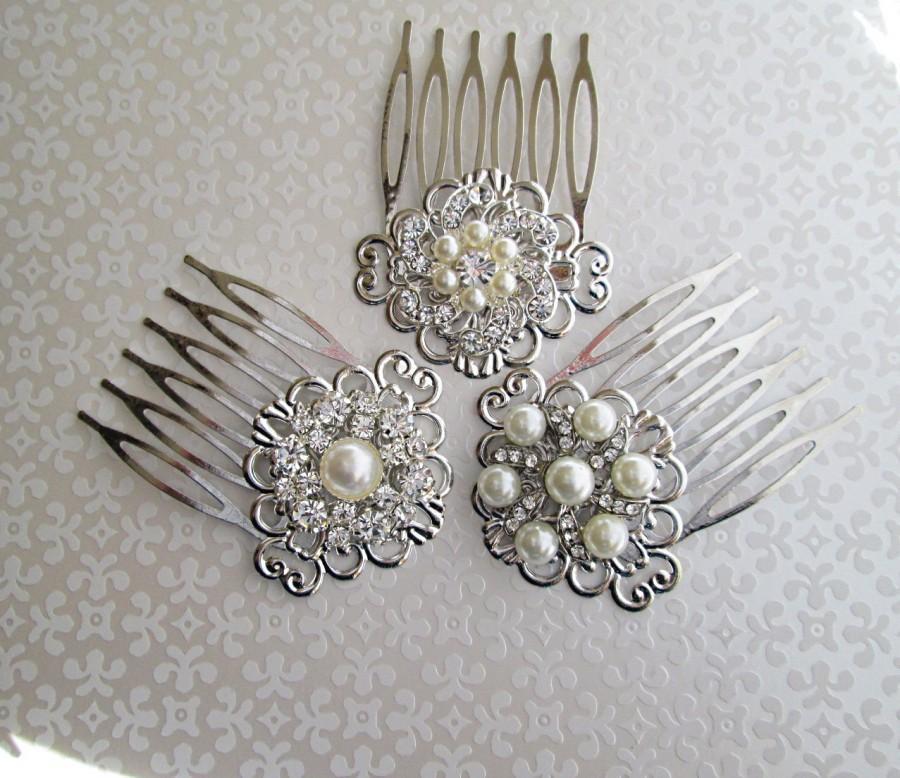 Bridal Hair Combs Wedding Hair Clips Pearl Hair Piece Small Hair